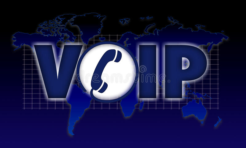 Stem VOIP over Internet-protocol royalty-vrije illustratie