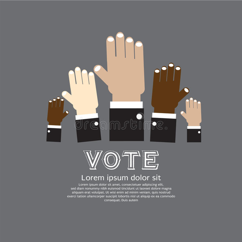 Stem voor Verkiezing. royalty-vrije illustratie