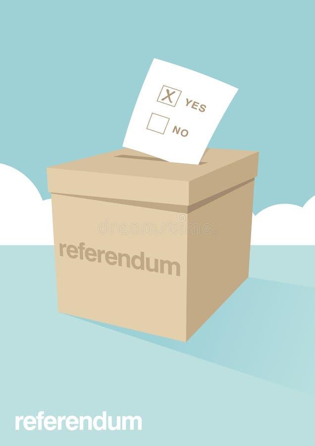 Stembus voor een Referendum royalty-vrije illustratie