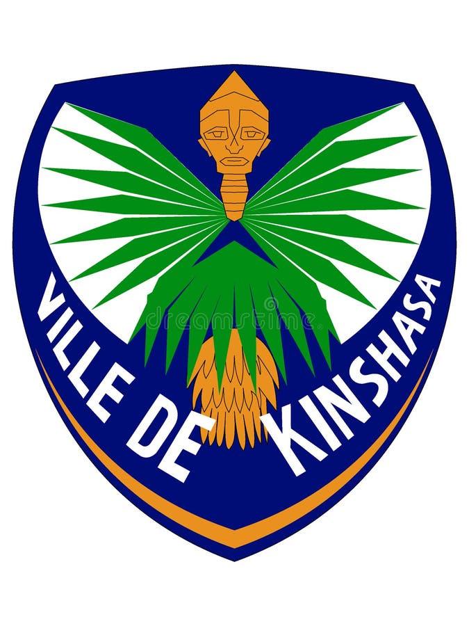 Stemma della città di Kinshasa illustrazione vettoriale