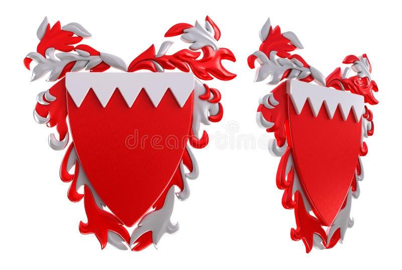 stemma di 3D Bahrain royalty illustrazione gratis