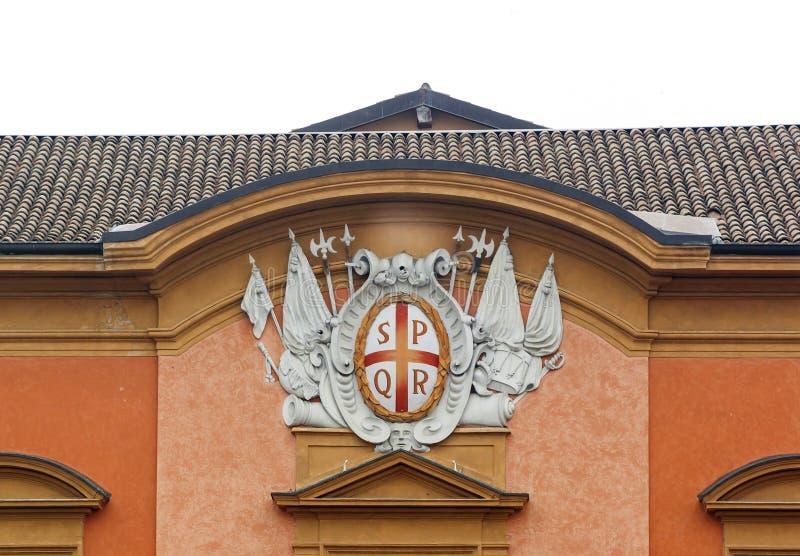 Stemma di Reggio nell'Emilia fotografia stock