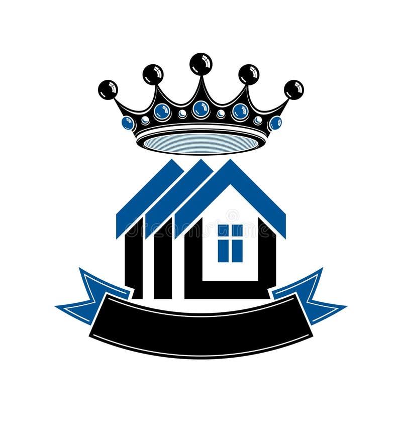 Stemma imperiale, simbolo concettuale di vettore della casa reale royalty illustrazione gratis
