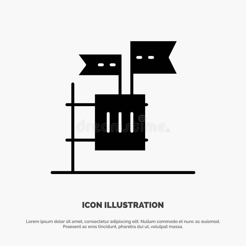 Stemming, Boycot, Verkiezing, Huisvuil, het Pictogramvector van Troep stevige Glyph vector illustratie