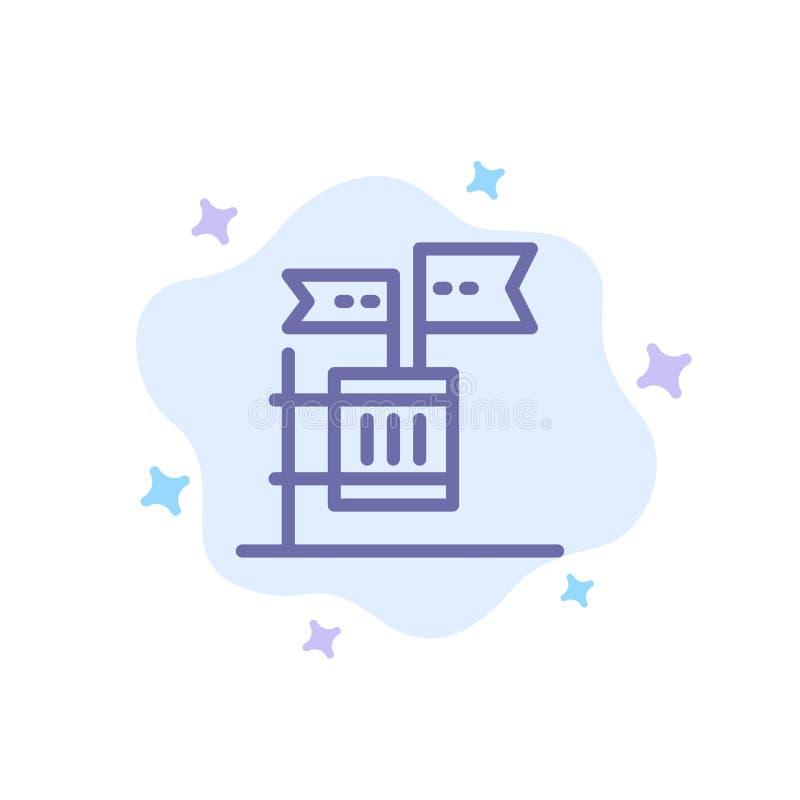 Stemming, Boycot, Verkiezing, Huisvuil, Troep Blauw Pictogram op Abstracte Wolkenachtergrond vector illustratie