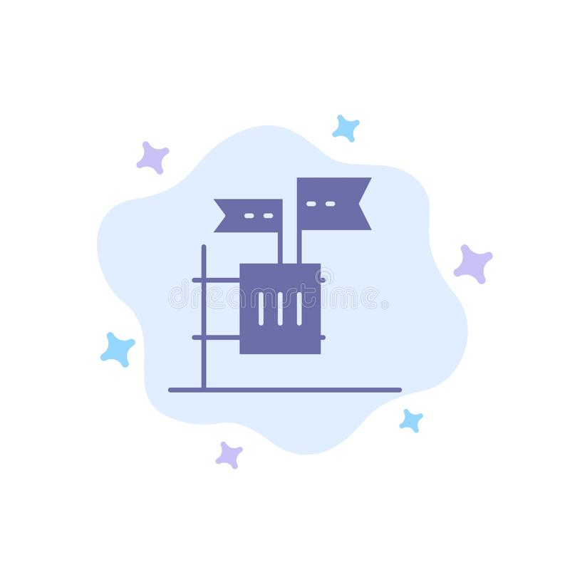 Stemming, Boycot, Verkiezing, Huisvuil, Troep Blauw Pictogram op Abstracte Wolkenachtergrond stock illustratie