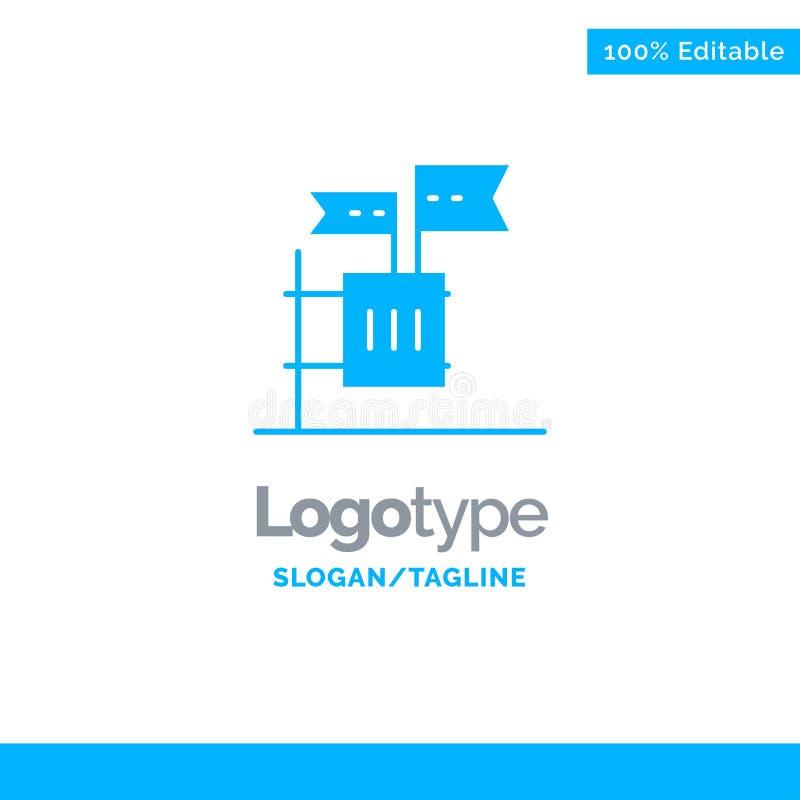 Stemming, Boycot, Verkiezing, Huisvuil, Troep Blauw Stevig Logo Template Plaats voor Tagline vector illustratie