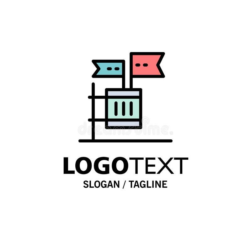Stemming, Boycot, Verkiezing, Huisvuil, Troepzaken Logo Template vlakke kleur vector illustratie