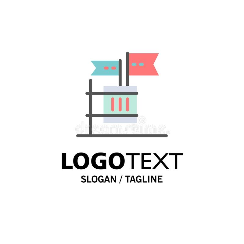 Stemming, Boycot, Verkiezing, Huisvuil, Troepzaken Logo Template vlakke kleur royalty-vrije illustratie