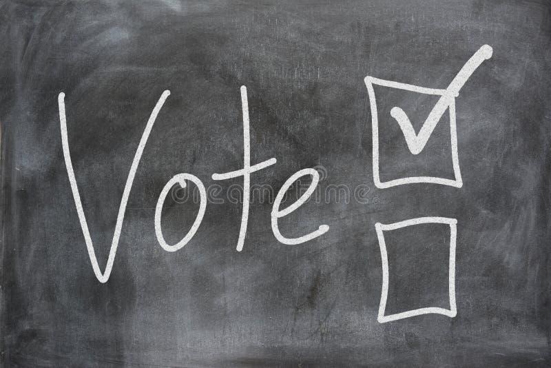 Stemming in een Verkiezing stock afbeeldingen