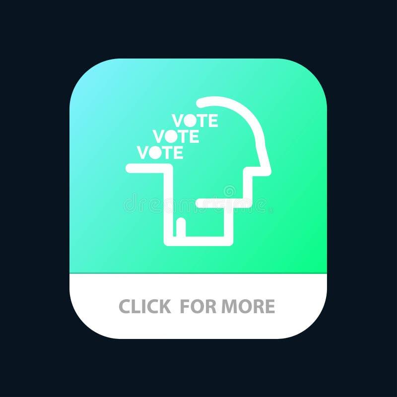 Stemming, Verkiezing, Opiniepeiling, Referendum, de Knoop van de Toespraakmobiele toepassing Android en IOS Glyph Versie vector illustratie