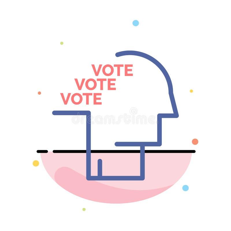 Stemming, Verkiezing, Opiniepeiling, Referendum, het Pictogrammalplaatje van de Toespraak Abstract Vlak Kleur royalty-vrije illustratie