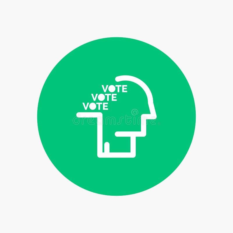 Stemming, Verkiezing, Opiniepeiling, Referendum, Toespraak stock illustratie