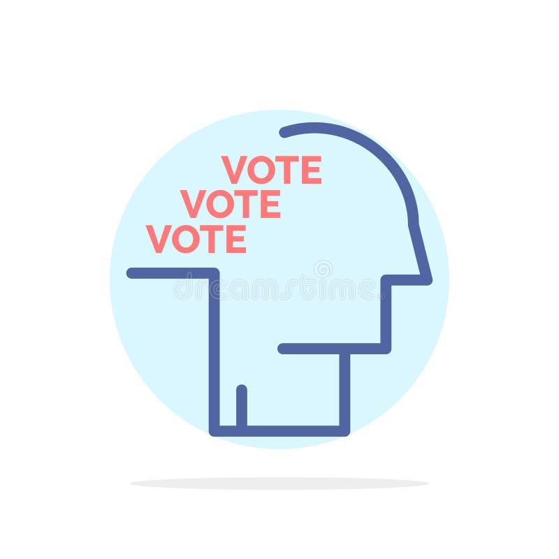 Stemming, Verkiezing, Opiniepeiling, Referendum, van de Achtergrond toespraak Abstract Cirkel Vlak kleurenpictogram royalty-vrije illustratie