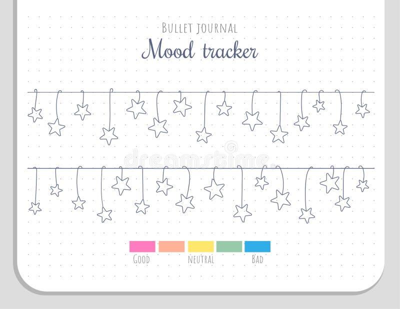 Stemmingsdrijver met het hangen van sterren 31 dagen van een maand royalty-vrije illustratie