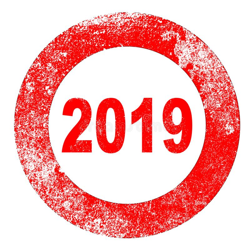 Stempel 2019 stock abbildung