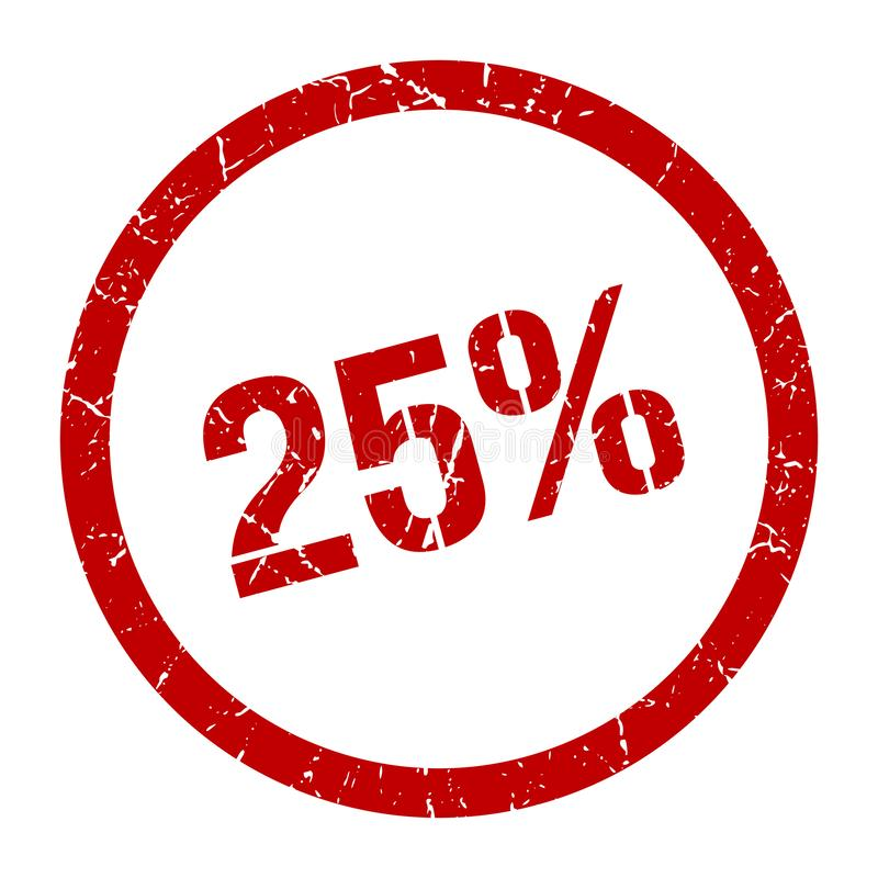 25% Stempel stock abbildung