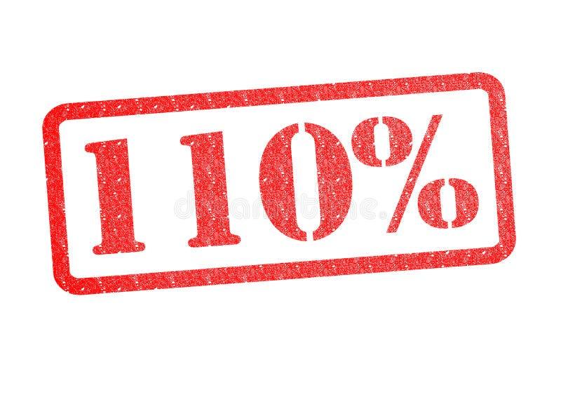 Stempel 110% stock abbildung