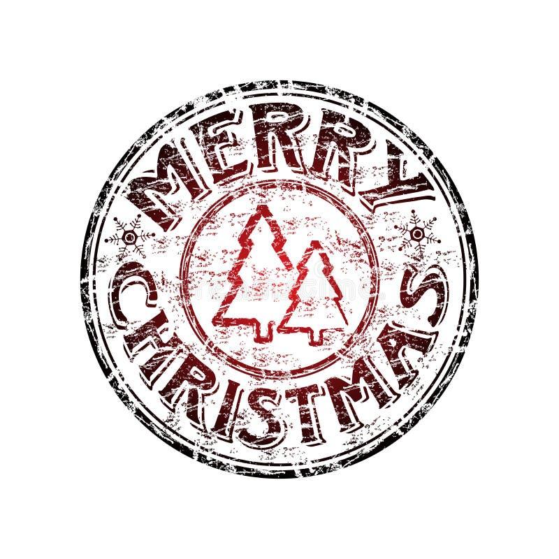 Stempel der frohen Weihnachten lizenzfreie abbildung