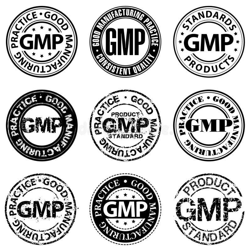 Stempel der guten Herstellungsmethode lizenzfreies stockfoto