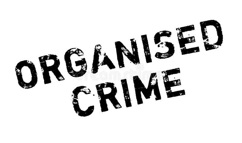 Stempel der organisierten Kriminalität vektor abbildung