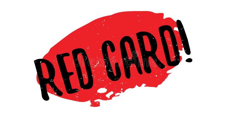 Stempel der roten Karte lizenzfreie abbildung