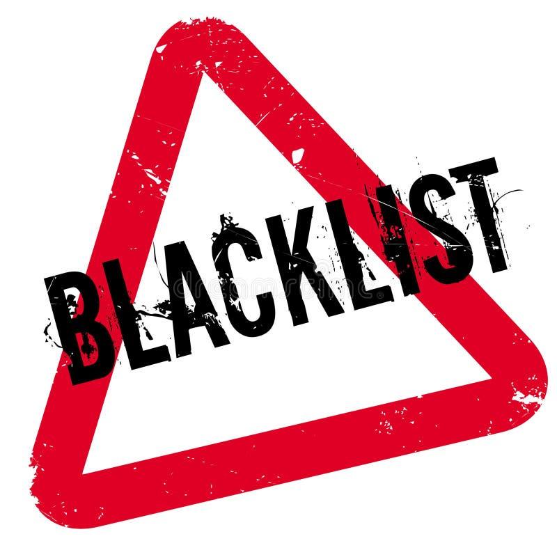 Stempel der schwarzen Liste stock abbildung