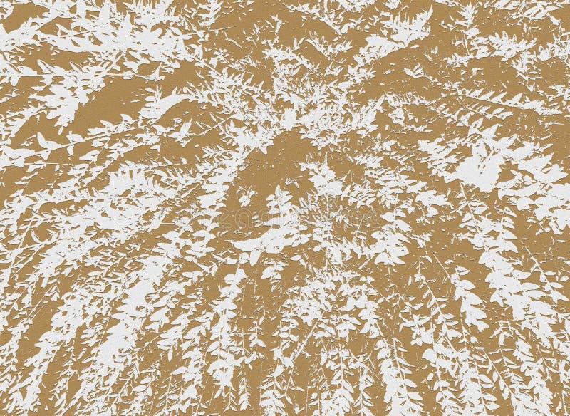 Stempel des Busches mit langen Niederlassungen und kleinen Blättern lizenzfreie stockfotografie