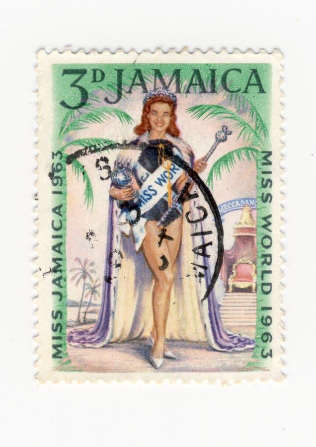 Stempel des Fräuleins Jamaika 1963 stockbilder