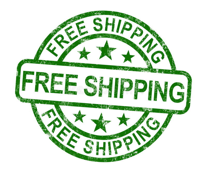Stempel des kostenlosen Versands, der keine Gebühr oder gratis liefern zeigt lizenzfreie abbildung