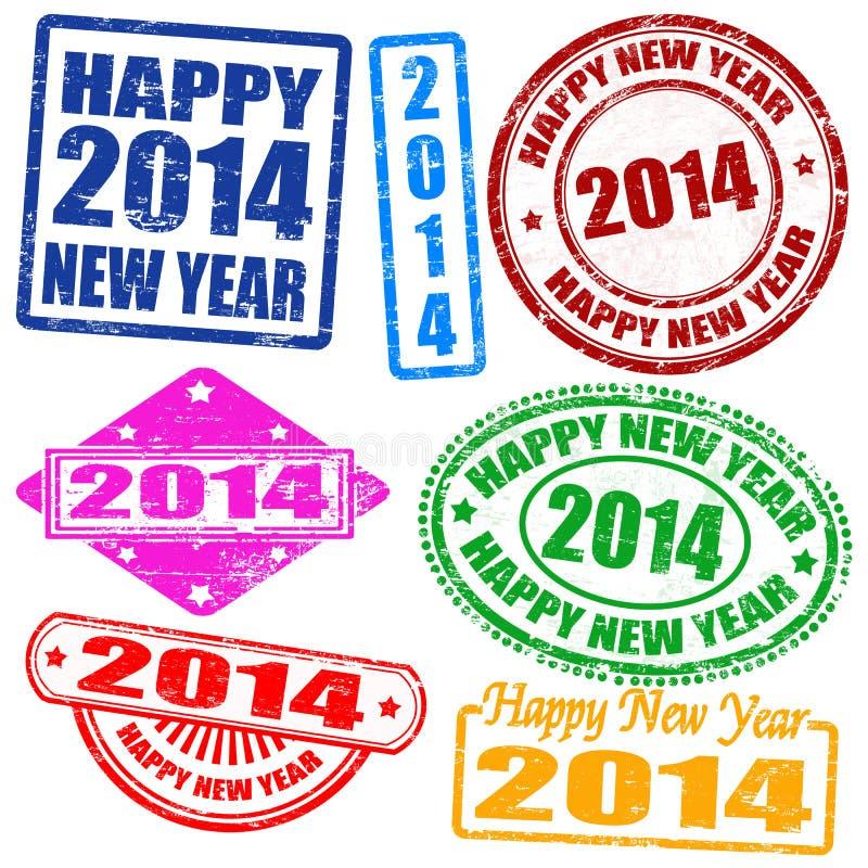 2014 Stempel des neuen Jahres lizenzfreie abbildung
