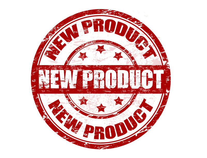 Stempel des neuen Produktes lizenzfreie abbildung