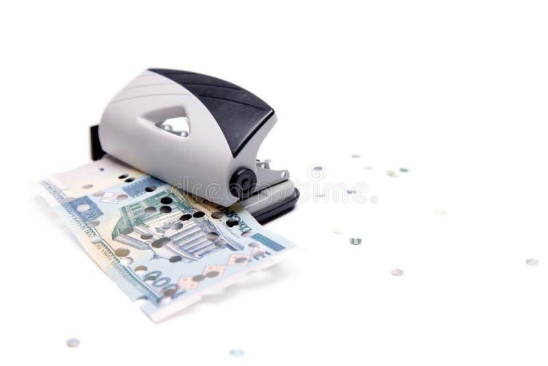 Stempel en lek bankbiljet royalty-vrije stock afbeelding
