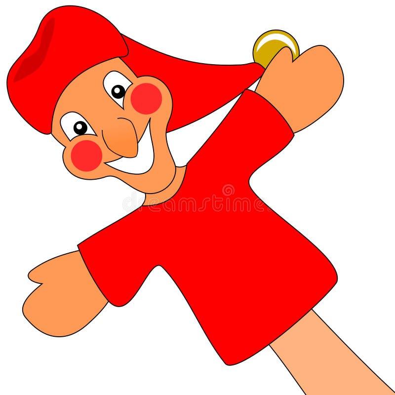 Stempel en marionet Judy. stock illustratie