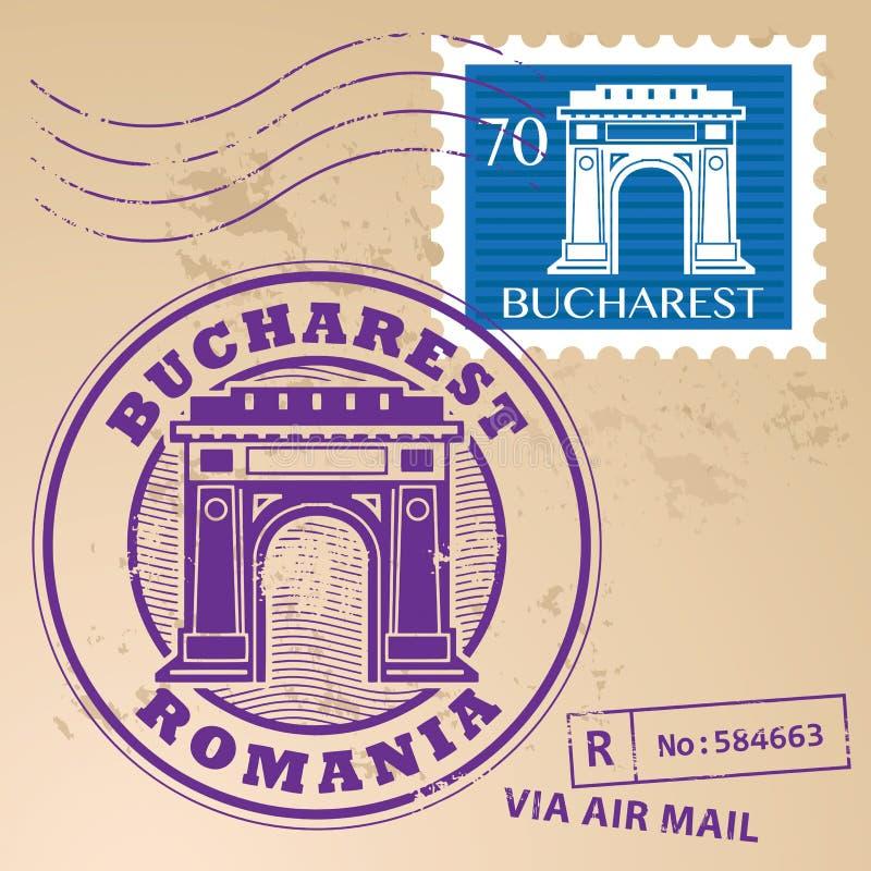 Stempel gesetztes Bukarest vektor abbildung