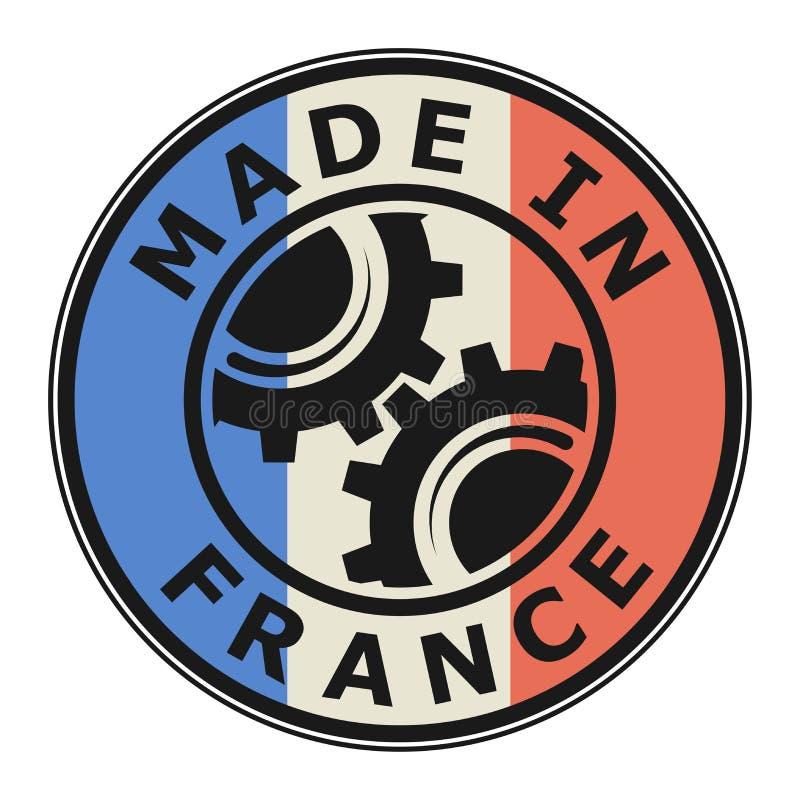Stempel hergestellt in Frankreich vektor abbildung