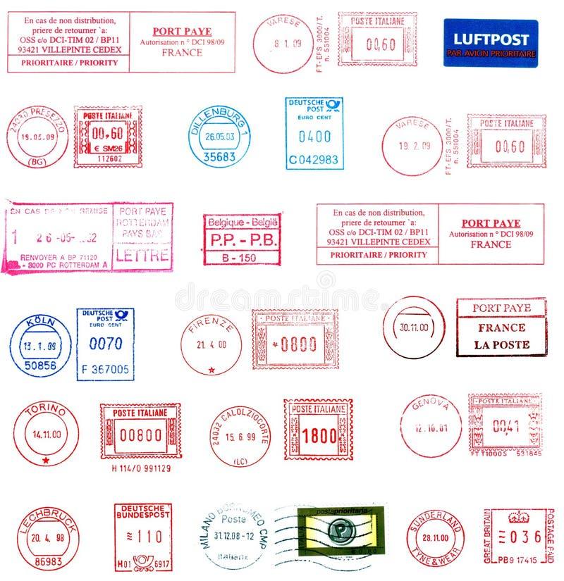 Stempel, Kennsätze und Poststempel stock abbildung