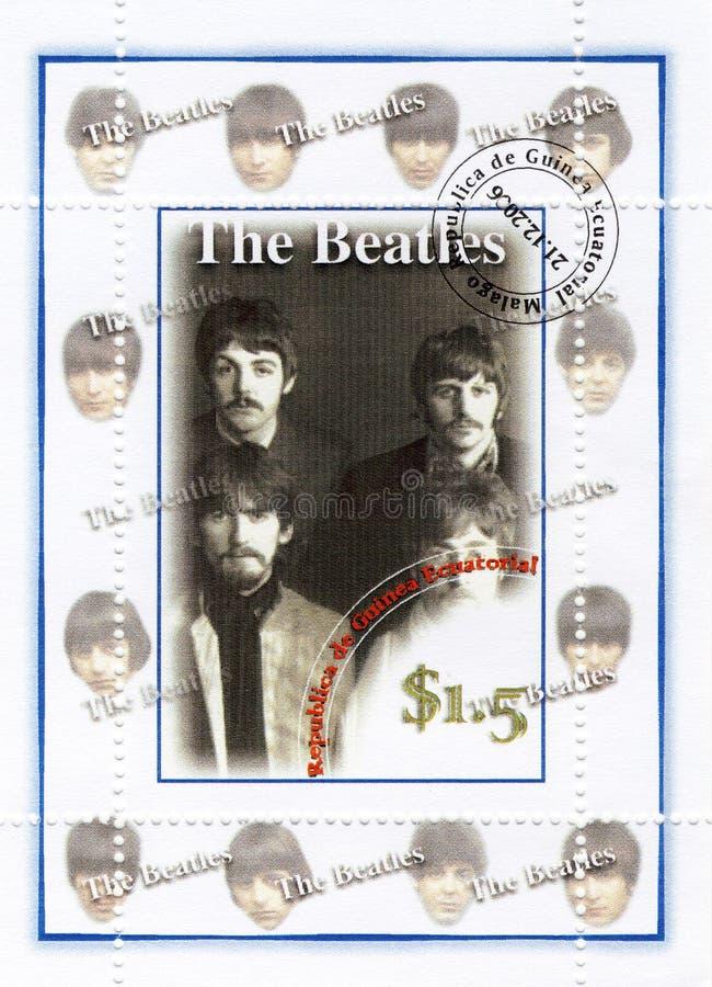 Stempel mit Beatles stockbild