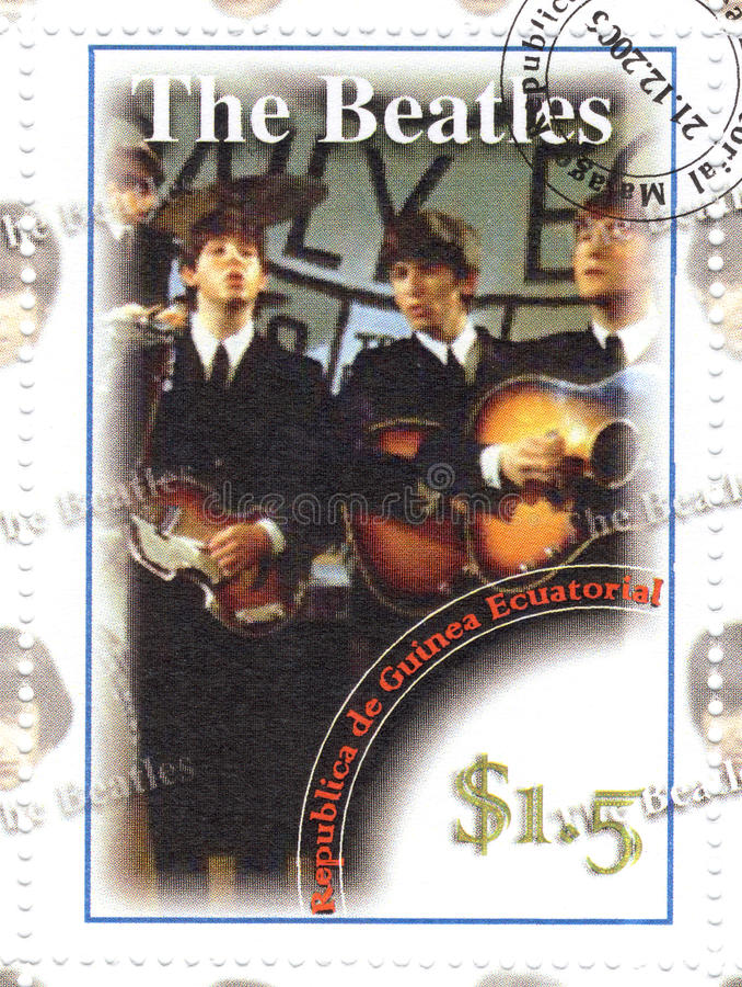 Stempel mit dem Beatles lizenzfreies stockfoto