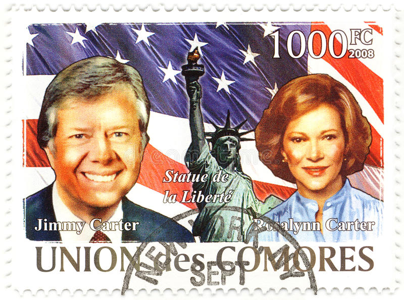 Stempel mit Jimmy Carter lizenzfreie stockbilder