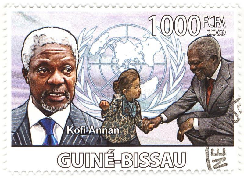 Stempel mit Kofi Annan lizenzfreies stockbild