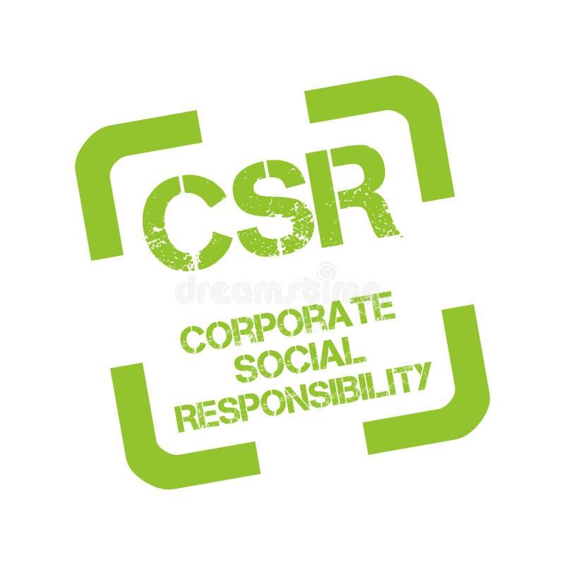 Stempel mit Text Bauzustands-Übersichtsbericht sozialer Verantwortung von Unternehmen lizenzfreie abbildung