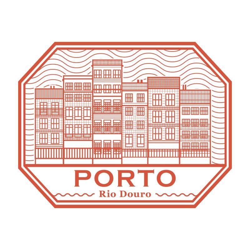Stempel Porto, Fluss-Duero stock abbildung