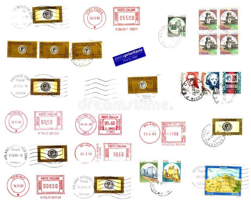 Stempel, Poststempel und Kennsatzhintergrund lizenzfreie abbildung