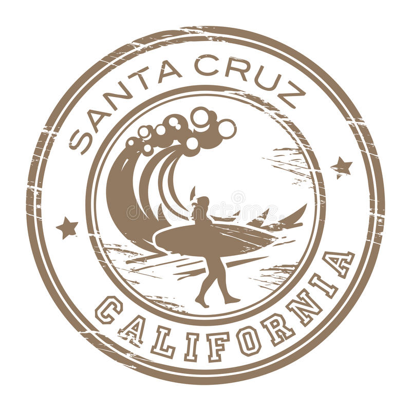 Stempel Santa- Cruz, Kalifornien lizenzfreie abbildung