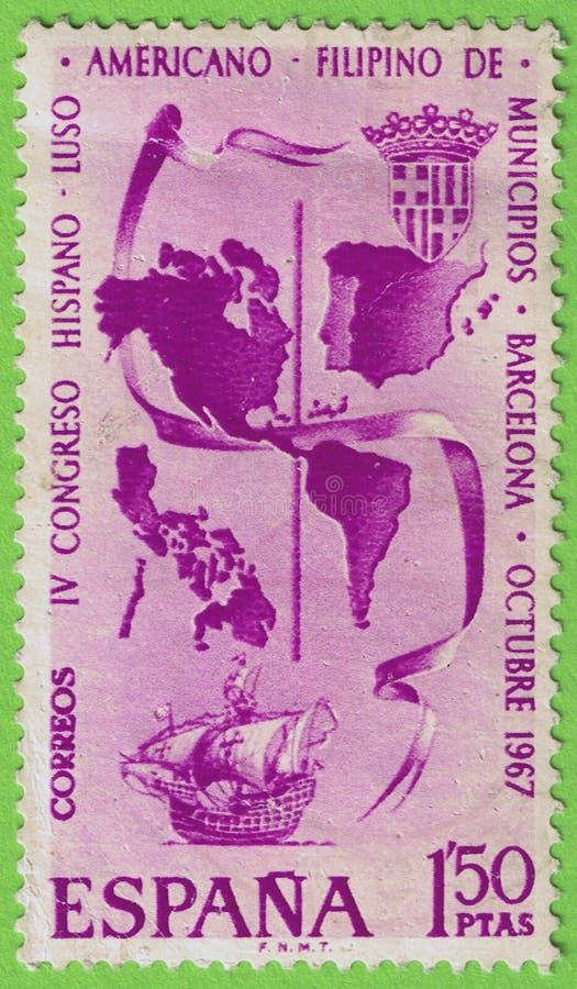 Stempel Spanje royalty-vrije stock afbeelding