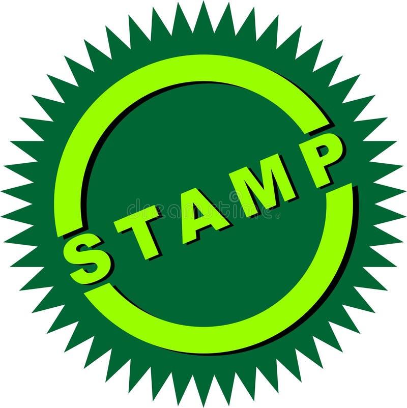 Stempel-Stern-Logo stockfotografie