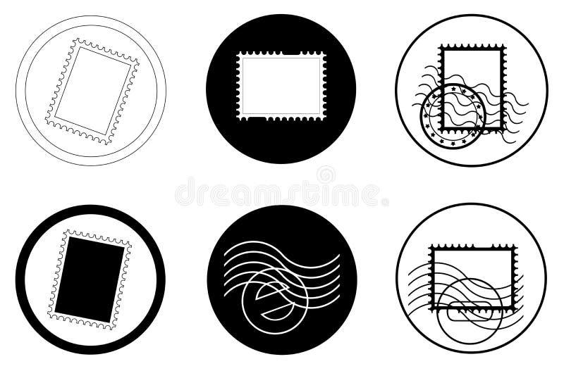 Stempel und Poststempel stock abbildung