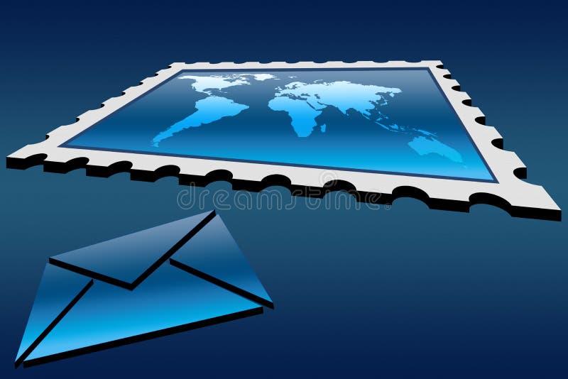 Stempel und Umschlag lizenzfreie abbildung