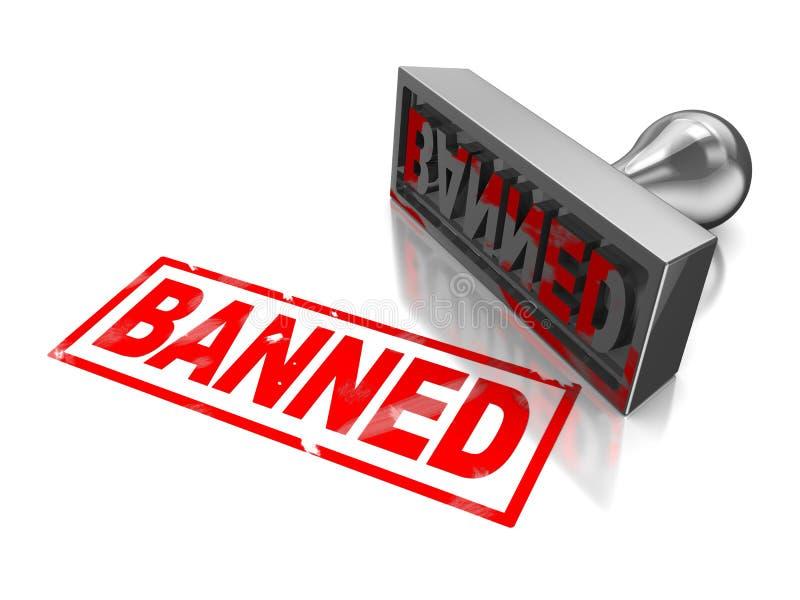 Stempel verboten lizenzfreie abbildung